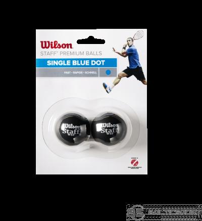WILSON skvoša bumbiņas STAFF Iepakojumā 2 gb. - blue dot