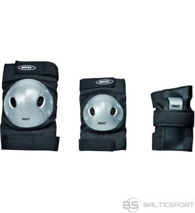 Roces Extra Trīs Pack JR melnā aizsargi 301377 / s