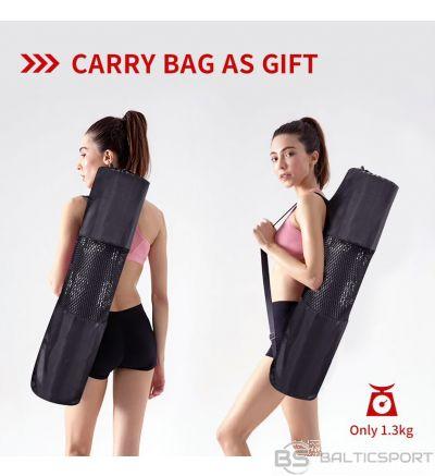 PROIRON Yoga Mat Exercise Mat, 173 cm x 61 cm x 0.35 cm, Premium carry bag included, Green, Eco-friendly PVC