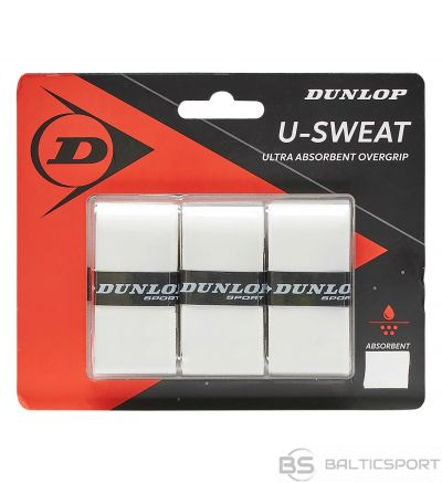 Tennis racket overgrip Dunlop U-SWEAT white 3-pcs-blister