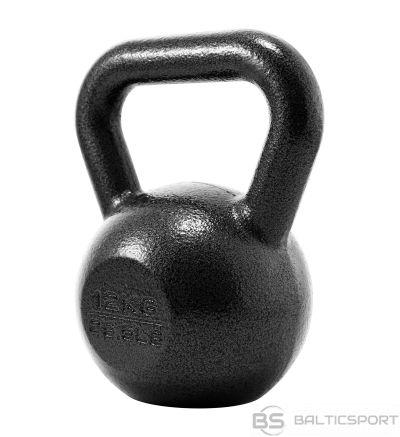 Metāla Svaru Bumba / PROIRON PRKHKB12K Kettlebell Weight, 1 pc, 12 kg, Black, Cast Iron