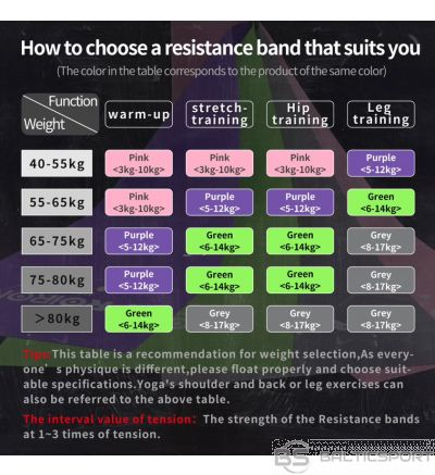 PROIRON Resistance Band Set Exercise Band, 200 x 15 x 0.55 cm, Heavy (6-14 kg), 1 pc, Green