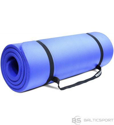 PROIRON Pilates Mat Gym Mat, 180 x 61 x 1.5 cm; Rolled up diameter: 15-20 cm, Blue, Rubber Foam