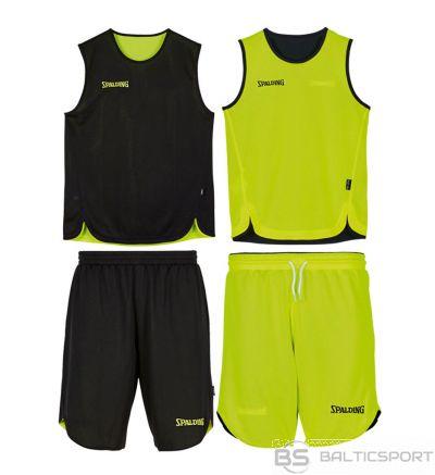 Bērnu basketbola komplekts atgriezenisks Spalding black-nen green / 140cm