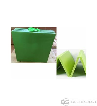 Salokāms Vingrošanas paklājs / matracis 183 x 61 x 5 cm (zaļš) (mitrumizturīgs)