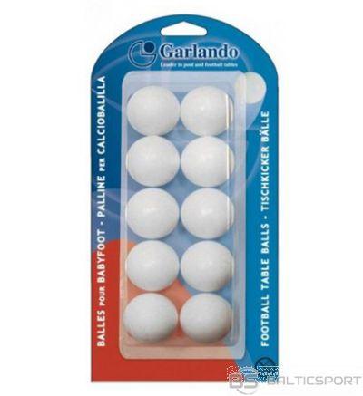Set of 10 standard white balls GARLANDO
