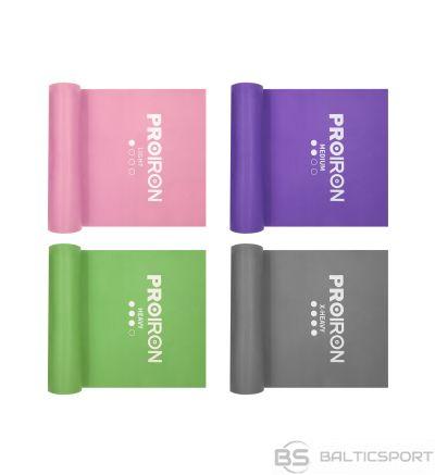 PROIRON Resistance Band Set Exercise Band, 200 x 15 x 0.35 cm, Light (3-10 kg), 1 pc, Pink