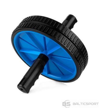 Spokey TWIN II Double roller, Blue/black, Plastic/steel