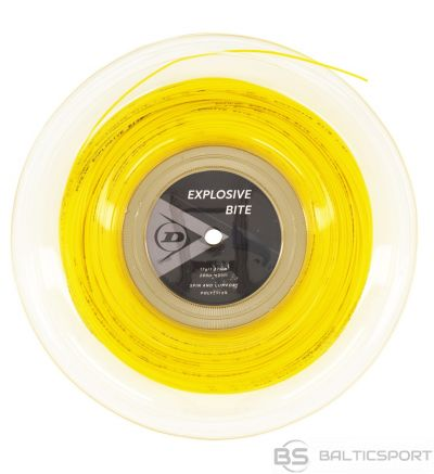 Stings for tennis DUNLOP EXPLOSIVE SPIN 17G 200M yellow 1PC