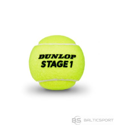 Tennis balls DUNLOP STAGE 1 3-tube green