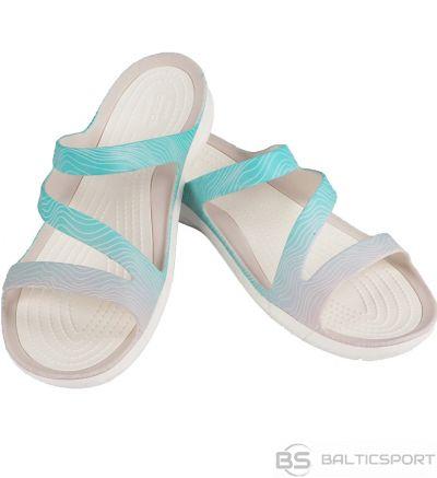 Crocs Sieviešu čības Swiftwater sezonas sandales spilgti zilā baltā krāsā 205637 41s / 36-37