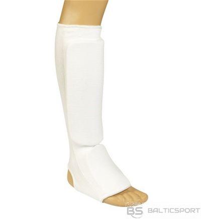 Karate shin-foot protector Matsuru 100% cotton L white