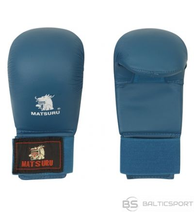 Karate gloves Matsuru with velcro closure, synthetic leather, M blue
