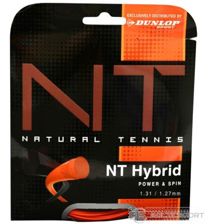 Co-Polyester strings DUNLOP NT HYBRID+ 12m, 1.31/1.27mm, black/orange