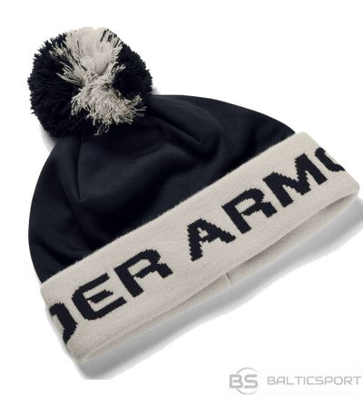 Under Armour UA Boy's Gametime Pom Beanie 1345 388 002 ziemas cepure / Melna / one size