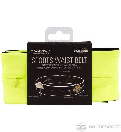 Schreuderssport Sports Belt AVENTO 21PR L Fluorescent yellow/Black/Silver