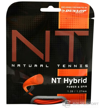 Heptagonal, premium Co-Polyester strings DUNLOP NT Revolution set 11m, 1.39/1.27mm, black/orange