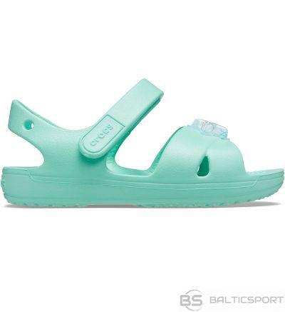 Crocs sandales bērniem Classic Cross Strap Charm Mietowe 206947 3U3 / 19-20
