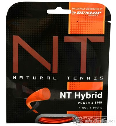 Co-Polyester strings DUNLOP NT HYBRID+ 12m, 1.35/1.27mm, black/orange