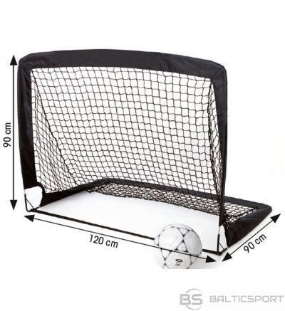 Folding football goal Tremblay 120x90x90 black