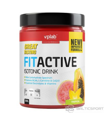 VPLab FITACTIVE Isotonic Drink - Tropiskā / 500 g