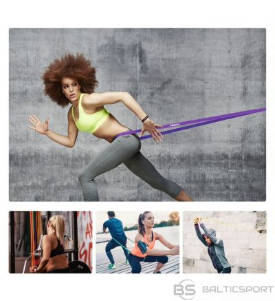 Cilpveida Vingrošanas / Fitnesa gumija / PROIRON Assisted Pull up Band Exercise Band, 208 x 4.5 x 0.45 cm, Resistance Level: Strong (31-54 kg), Red, 100% Natural Latex