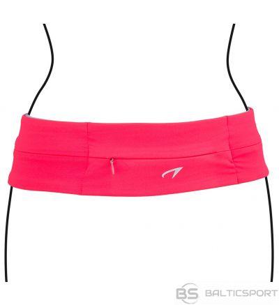 Schreuderssport Sports Belt AVENTO 21PR M Fluorescent pink/Black/Silver