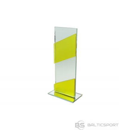 Polcups stikla trofeja / 22 cm /