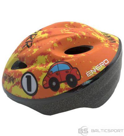 BS Velosipēdu ķivere bērniem regulējama automašīna 47-49 cm Enero oranža 1011004