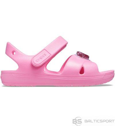 Crocs sandales bērniem Classic Cross siksna šarms rozā 206947 669 / 25-26