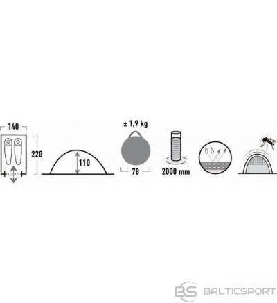 High Peak Stella 2 Pop Up izmetamā kupolveida telts (10131)