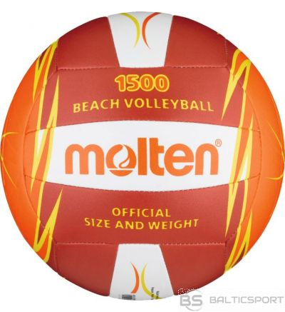 Beach volleyball MOLTEN V5B1500-RO for leisure, synth. leather