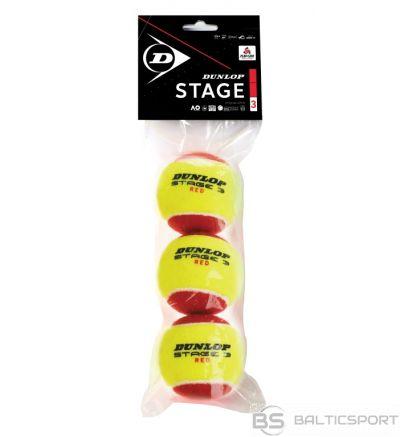 Tennis balls DUNLOP STAGE 3 3-polybag red