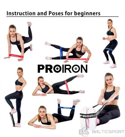 PROIRON Exercise Resistance Bands Set Lifting Straps, 60 x 5 cm, 5 pcs. (Yellow: X-light, Green: Light, Blue: Medium, Red: Heavy, Black: X-heavy), Multicolor