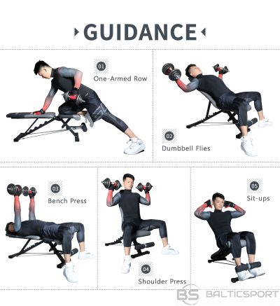 PROIRON Fitness Adjustable Weight Bench Multiple adjustable positions; 6 backrest angles and 4 front leg positions, multi-functional sit up bench, Grey