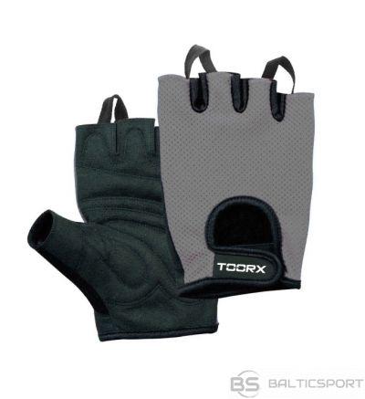 Toorx treniņu cimdi S izmērs AHF027 S black/gray zamšs un mikro siets