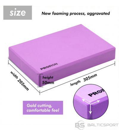 PROIRON Yoga Block Exercise Brick, 305 x 205 x 50 mm, 1 pc, Purple, High-density EVA foam