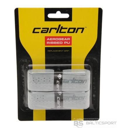 Badminton racket replacement overgrip CARLTON AEROGEAR RIBBED 2 psc grey