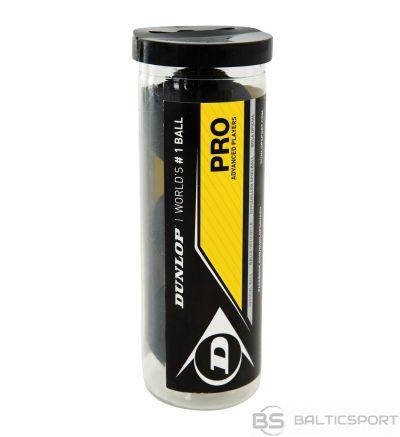 Skvoša Bumbiņas / DUNLOP PRO 2 yellow dots 3-tube PSA/WSA official