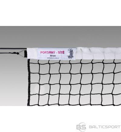 Pokorny Tennis net ECONOM 12,80x1,08m PA 42x42x3,0mm, galvanized steel cable