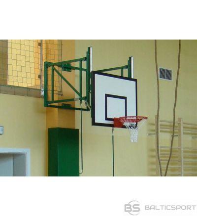 Basketbola sienas konstrukcija ar augstuma regulēšanu - 0,6-1,25 m - nolokāms