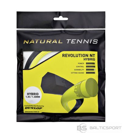 Tennis string Dunlop NT HYBRID YELLOW 1.31/1.25mm set, 12m, black/ yellow