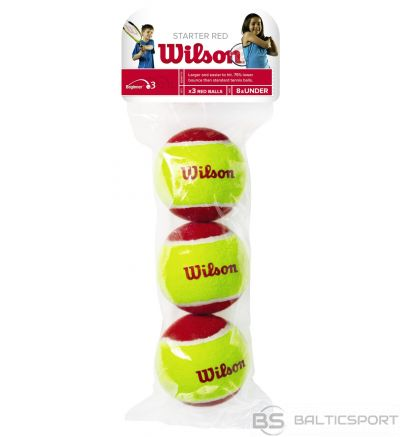 WILSON STARTER RED BALLS  ( 3 gb. )