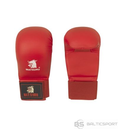 Karate gloves Matsuru with velcro closure, synthetic leather, L red