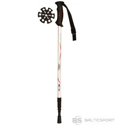 Schreuderssport Walking sticks NORDIC WALKING HIKING CANE ADJUSTABLE  ANTI SHOCK 21SU ZIR Silver/Red/Black