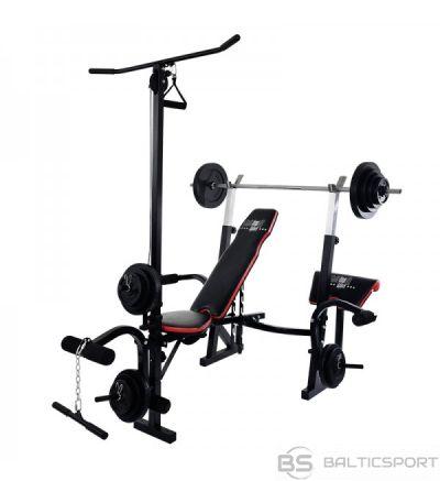 CHRISTOPEIT SPORT fitmesa stacija  Weight Bench Power XL ( pievilkšanās stienis - Latissimus slodze 50 kg.)
