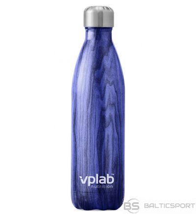 VPlab Tērauda termopudele dzērieniem - 500 ml / Zila koka