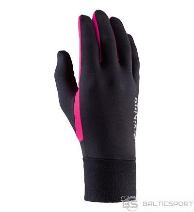 Viking Runway daudzfunkcionāli skriešanas cimdi melni un rozā krāsā 140-18-2740-46 / 6