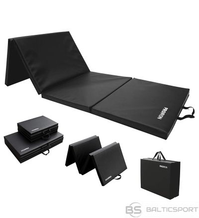 PROIRON Gymnastics Mat Folding Exercise Mat Black, PU Leather / High density foam, 183 x 61 x 4.1 cm; Packed: 61 x 45.7 cm