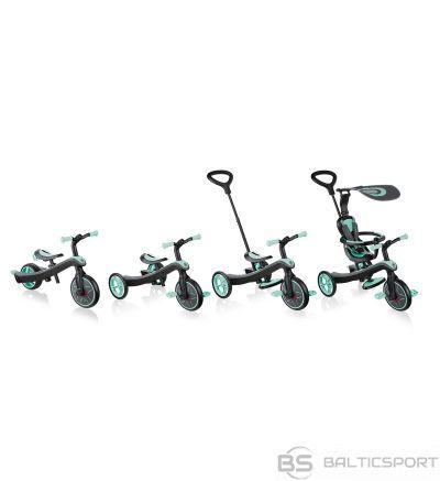 Globber Explorer Trike Teal 4in1 -trīsritenis/ balansa ritenis 10m -5y
